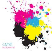 SMYK girl colorful background with splashes