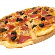 thumbnail of Sliced pizza isolated