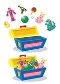 Starožitné hračky hrudníku