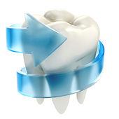 Zuby ochranu 3d koncept