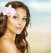 Beautiful Summer Woman on the Beach
