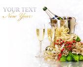 Champagne. Silvester. Feier