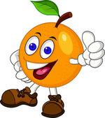 Vector Illustration Of Orange cartoon character