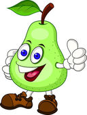 Vector Illustration Of Pear Cartoon Character