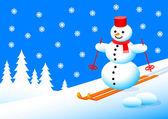 Sněhulák v zimní krajině