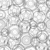 Vector seamless texture with mechanical gear and cogwheel