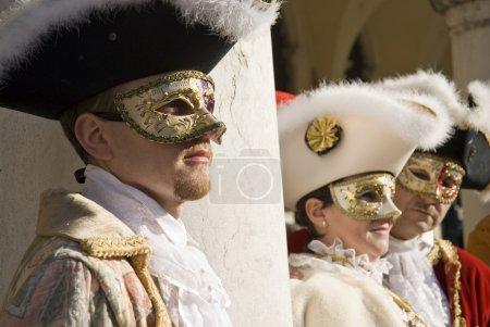 Постер, плакат: Venice Carnival Performers, холст на подрамнике
