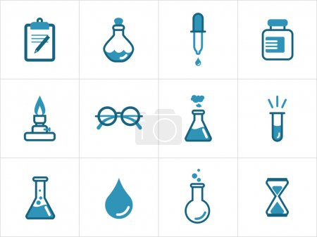 Постер, плакат: Science icons, холст на подрамнике