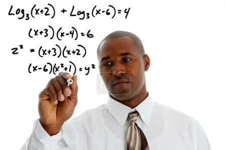 Постер, плакат: Math Teacher, холст на подрамнике