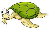 Illustration of an isolated turtle