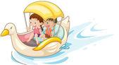 A csónakban gyermekek
