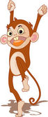 Illustration of a cartoon monkey on white