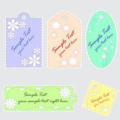 Set of 5 cute scrapbook tags