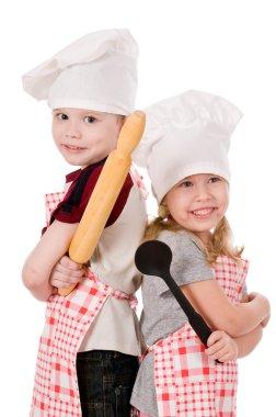 Two children cooks
