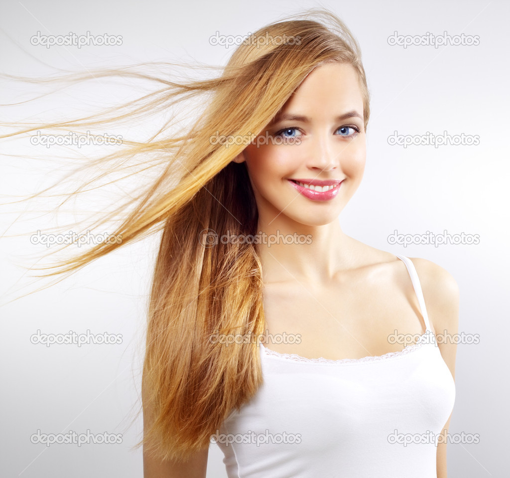 Pretty Girl With Long Hair Stock Photo 169 Anmfoto 9345094
