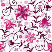 Photo Seamless white floral pattern