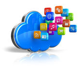 Fotografie Cloud computing concept