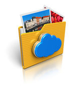 Fotografie Cloud computing and media storage concept