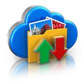 Fotografie Cloud computing and media storage concept