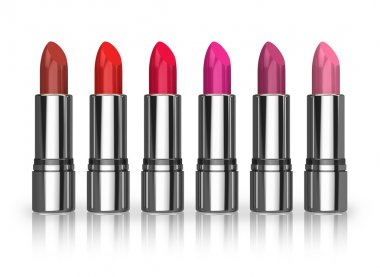 Set of red lipsticks
