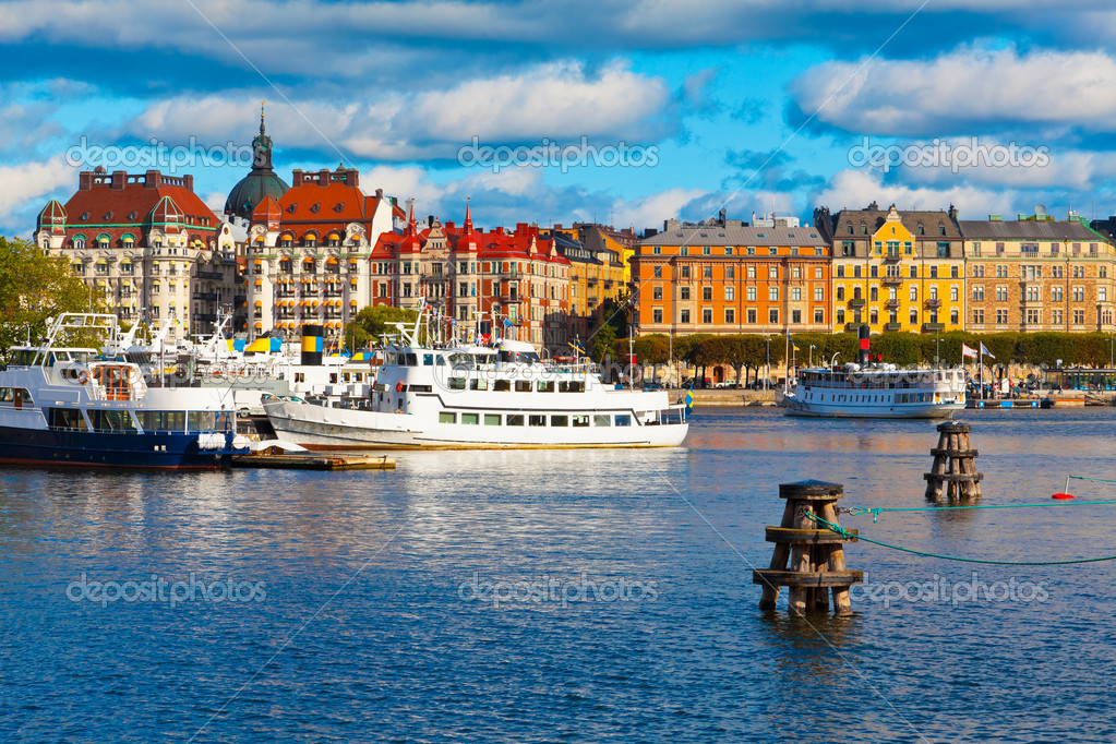 Фотообои Scenic view of the Old Town in Stockholm, Sweden