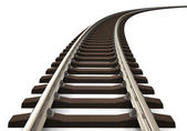 Photo Curved railroad track