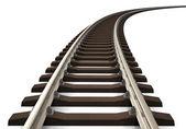 Gebogene Eisenbahnstrecke