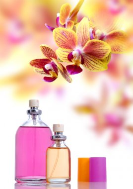 Perfume and yellow orchid