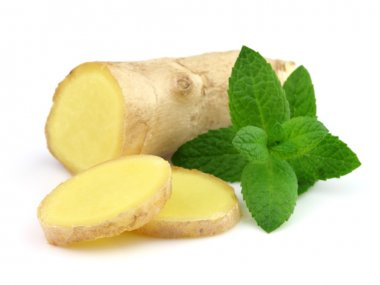 Ginger root with mint