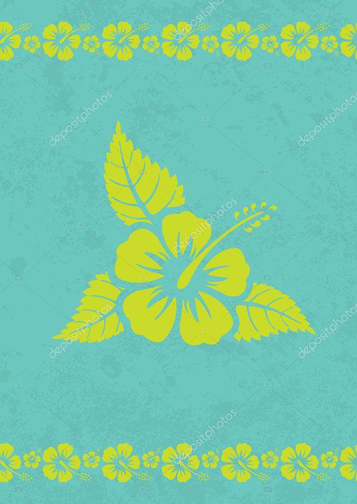 Vector grungy aloha background