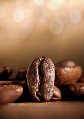 Coffee beans with bokeh