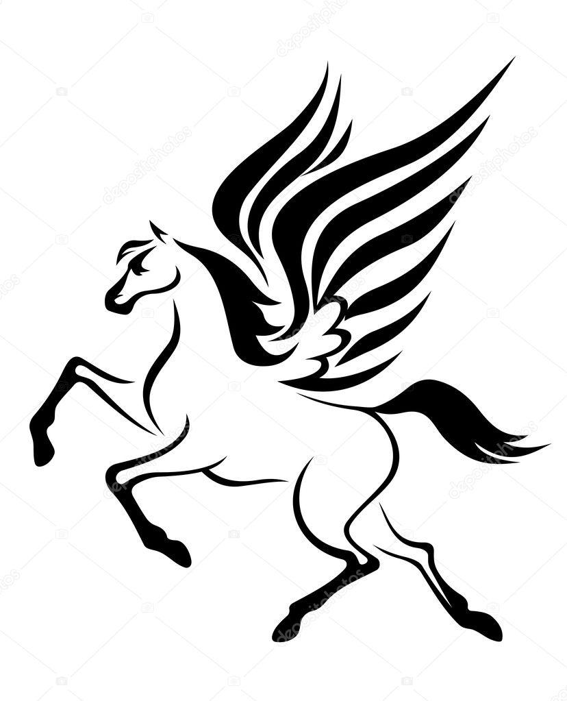 ペガサスの翼を持つ馬 ストックベクター Buchan 10126610