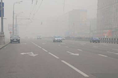 Smog over Moscow Street