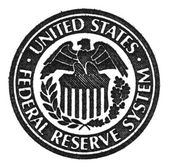 Fotografie Symbol für das Federal Reserve System der Vereinigten Staaten. Makro.