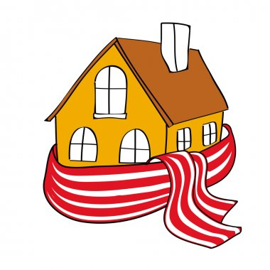 House wrapped in a scarf
