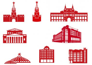 Moscow Buildings Icons