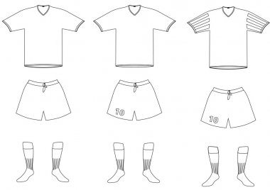 Vector soccer player uniform