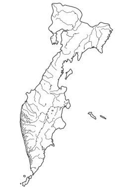 Map of Russian Kamchatka