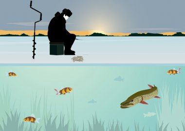 Download Man Ice Fishing Free Vector Eps Cdr Ai Svg Vector Illustration Graphic Art