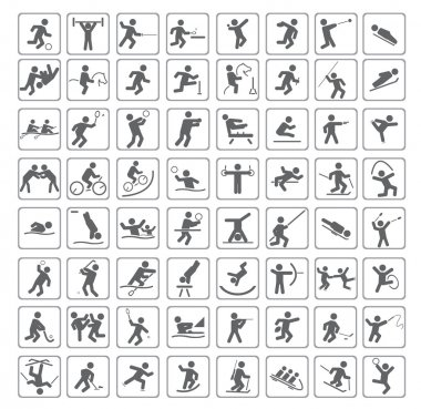 Set of sport icons. Vector illustration for you design stock vector