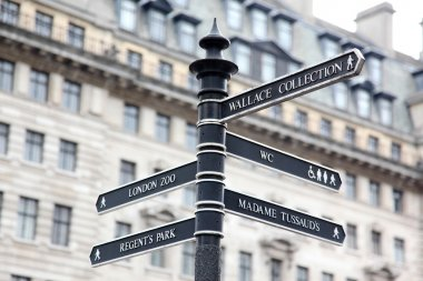 London Street Signpost with Zoo, Regent's Park, Wallace Collecti
