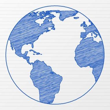 drawing world globe 5