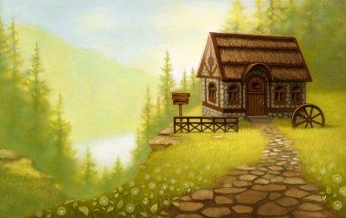 Fantasy landscape. Fairy tale