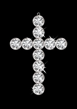 Diamond pendant cross