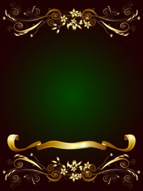 Decorative frame for text on a dark green background