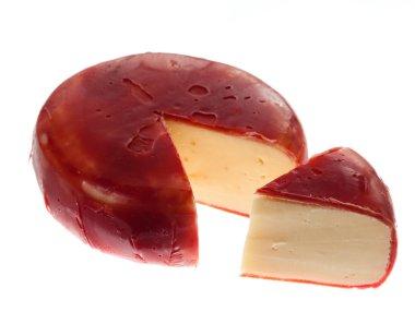 Round wax covered dutch edam gouda cheese