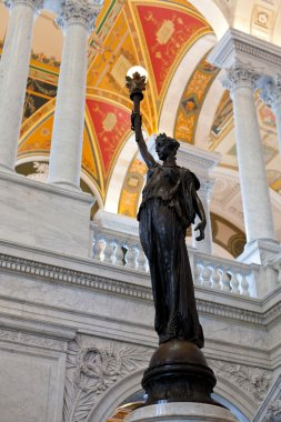 Statue in Library Congress in Washington DC