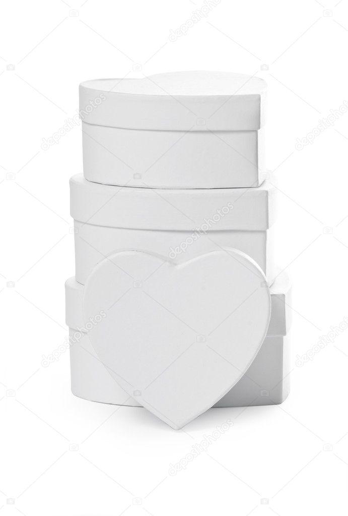 zásobník dárkové krabičky ve tvaru srdce — Stock Fotografie ... 785bd84b2df