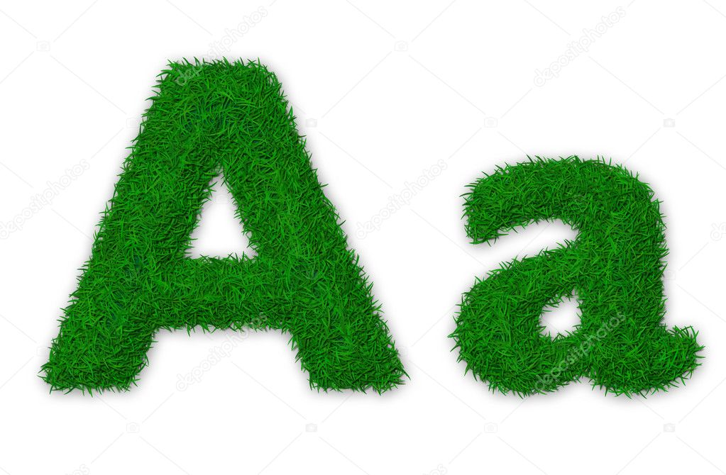 Grassy letter A