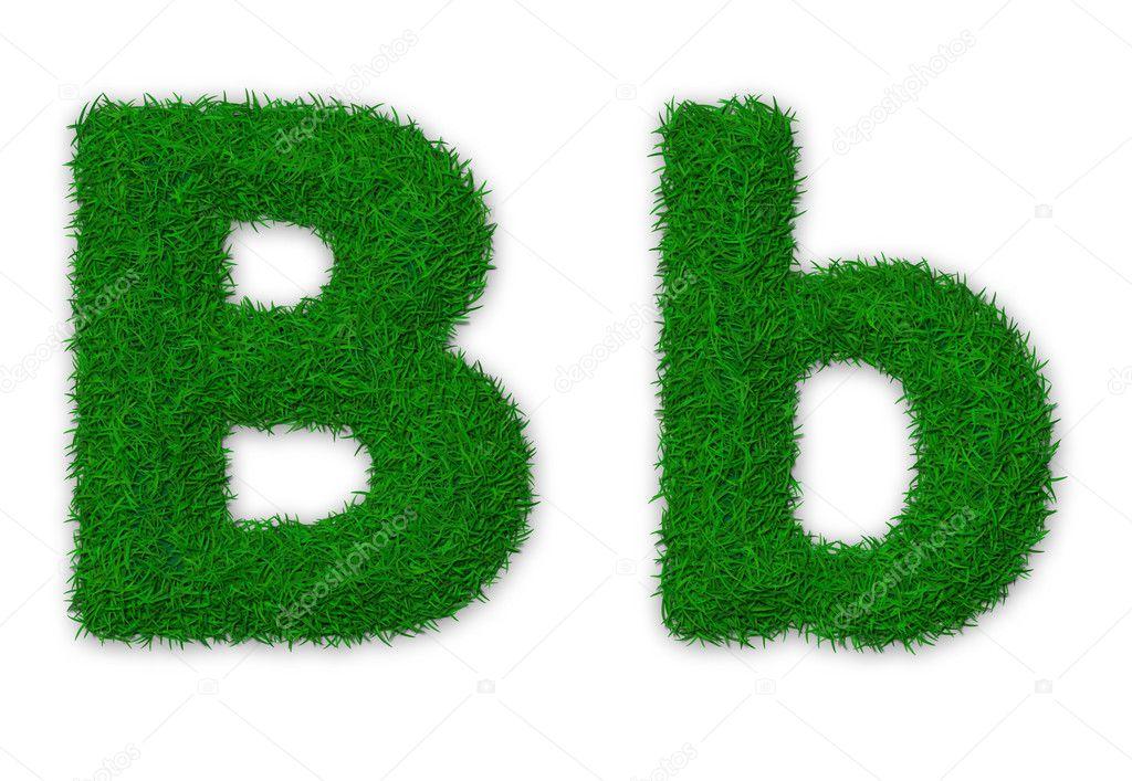 Grassy letter B